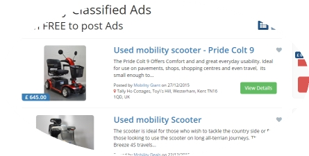 free mobility classifieds