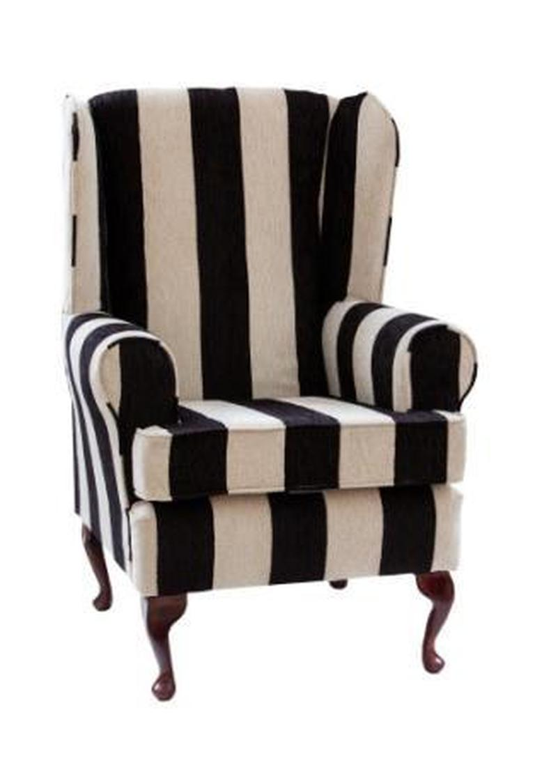 Luxury Orthopaedic High Seat Chair in Harrison stripe Black