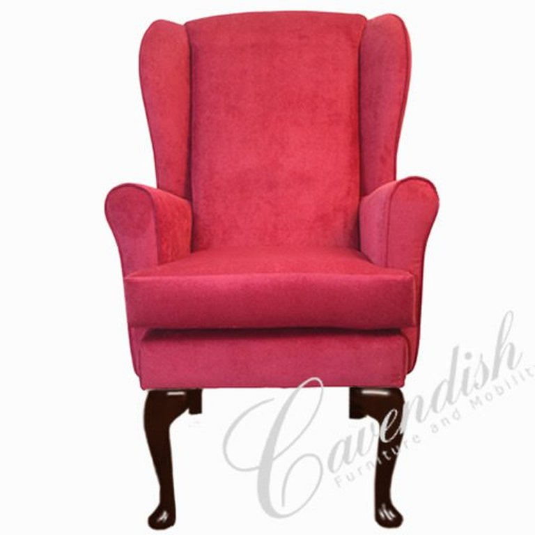 Gloucester Orthopedic High Seat Chair in Claret 21″ Seat Height