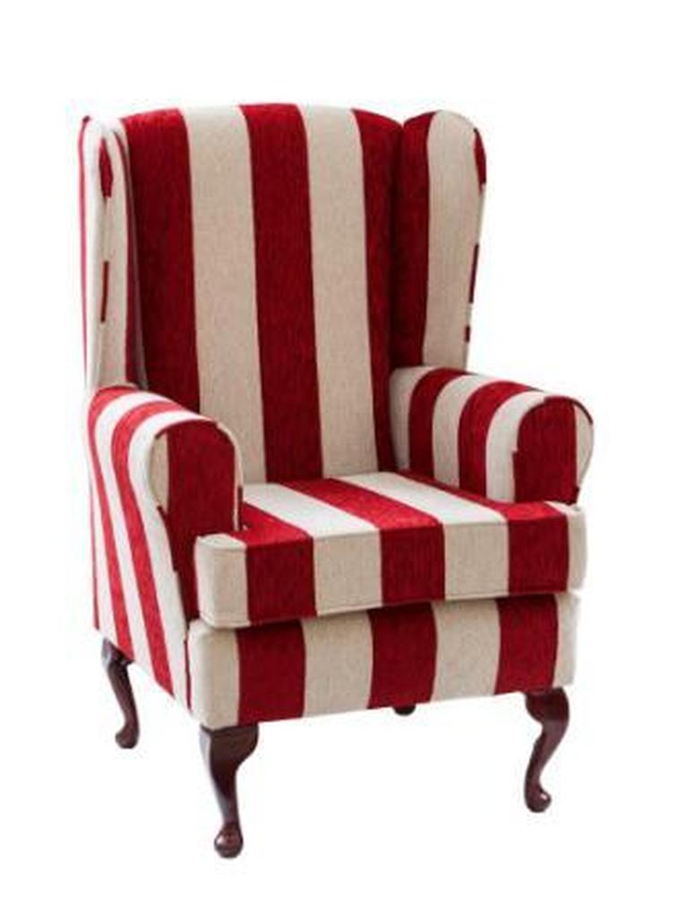 Luxury Orthopaedic High Seat Chair in Harrison stripe (Red)
