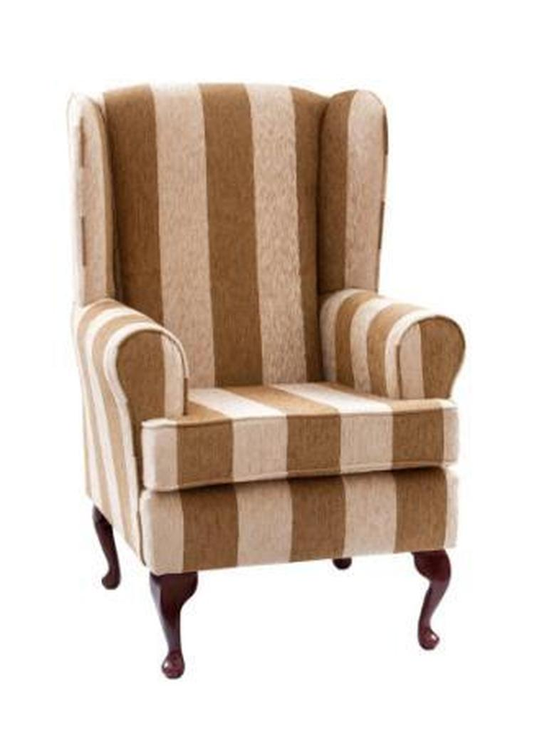 Luxury Orthopaedic High Seat Chair in Harrison stripe (Caramel)