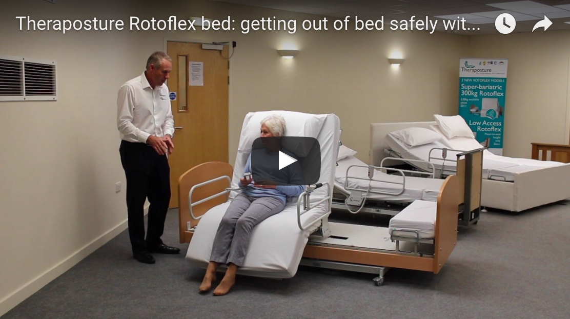Theraposture Rotoflex bed: getting out of bed safely with vertical lift functionality