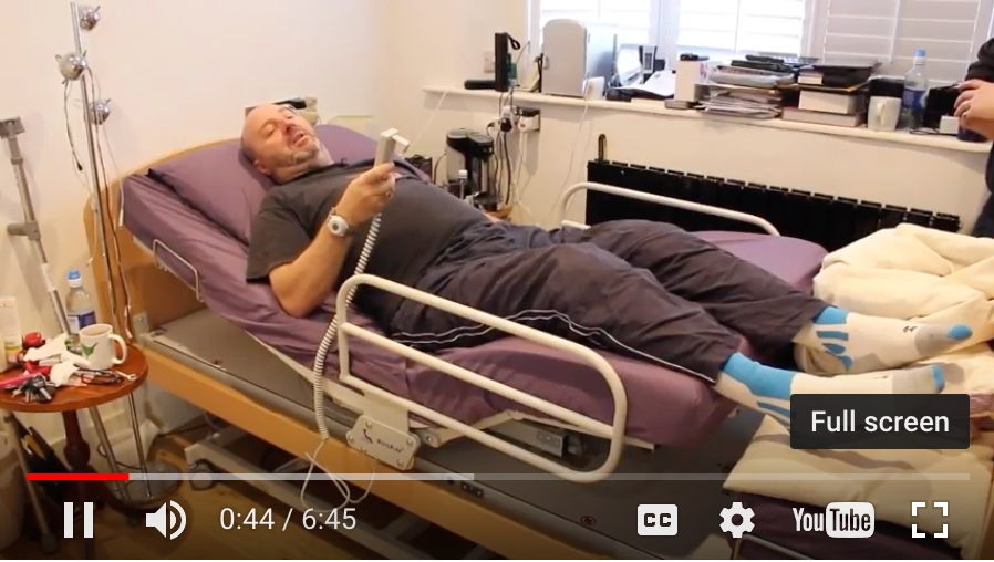 Rotoflex rotational bed reduces care needs for injured ex-Police Officer Mike
