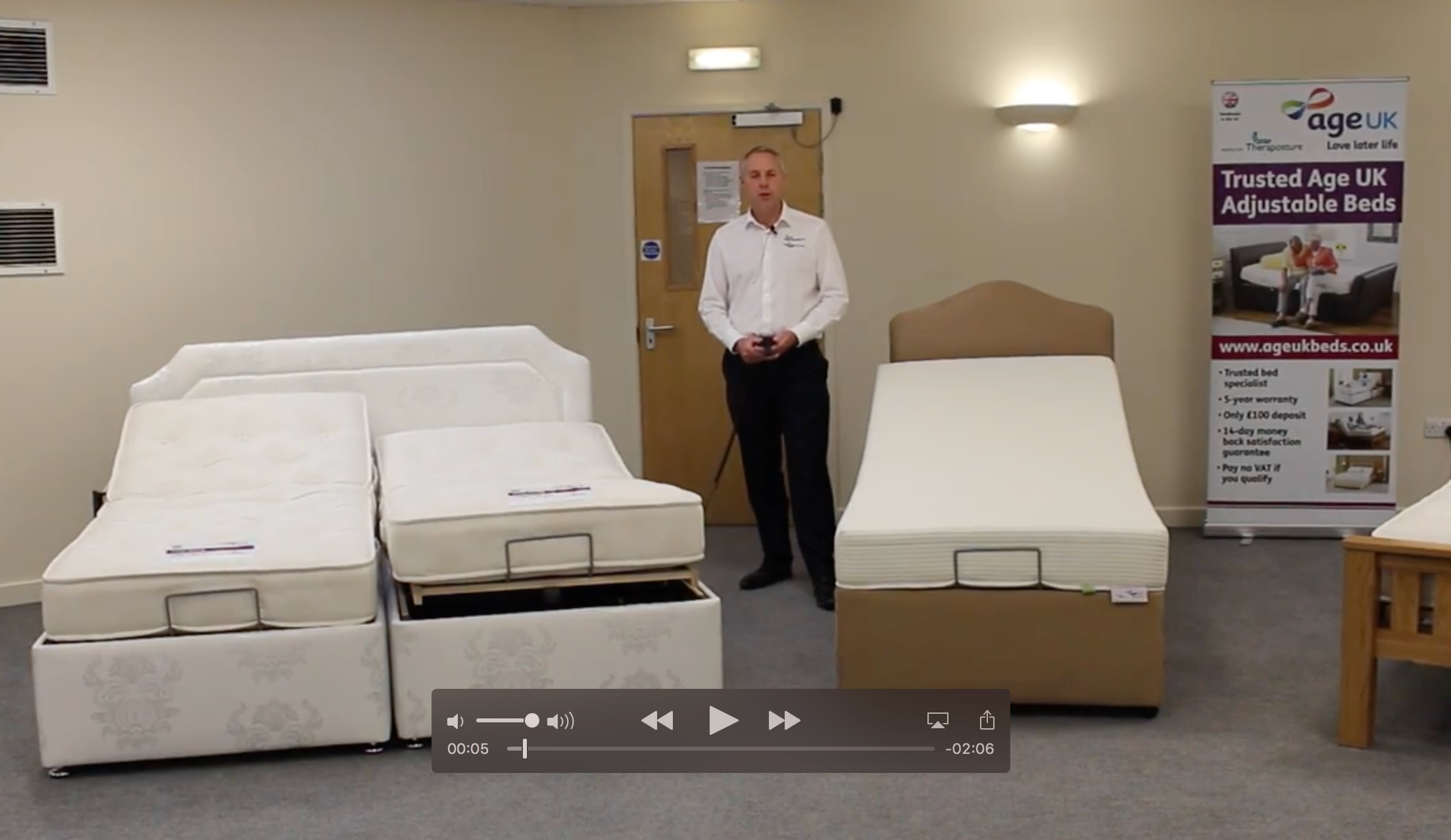Age UK Adjustable Beds from Theraposture - introducing the range