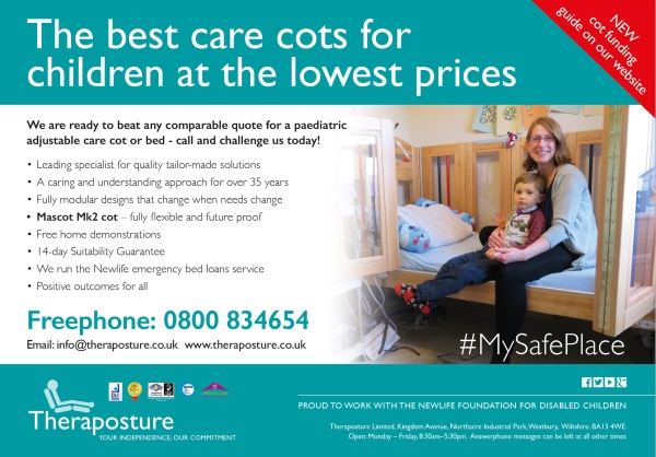 Theraposture ready to beat comparable paediatric care cot quotes