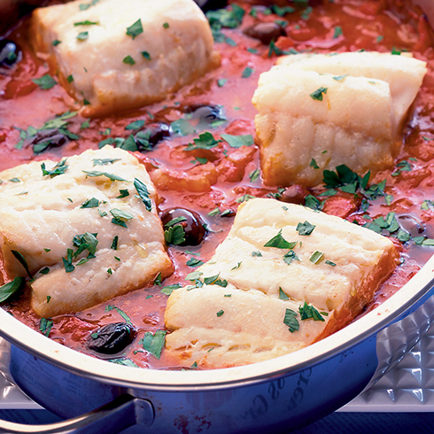 One-Pot Fish With Black Olives & Tomatoes