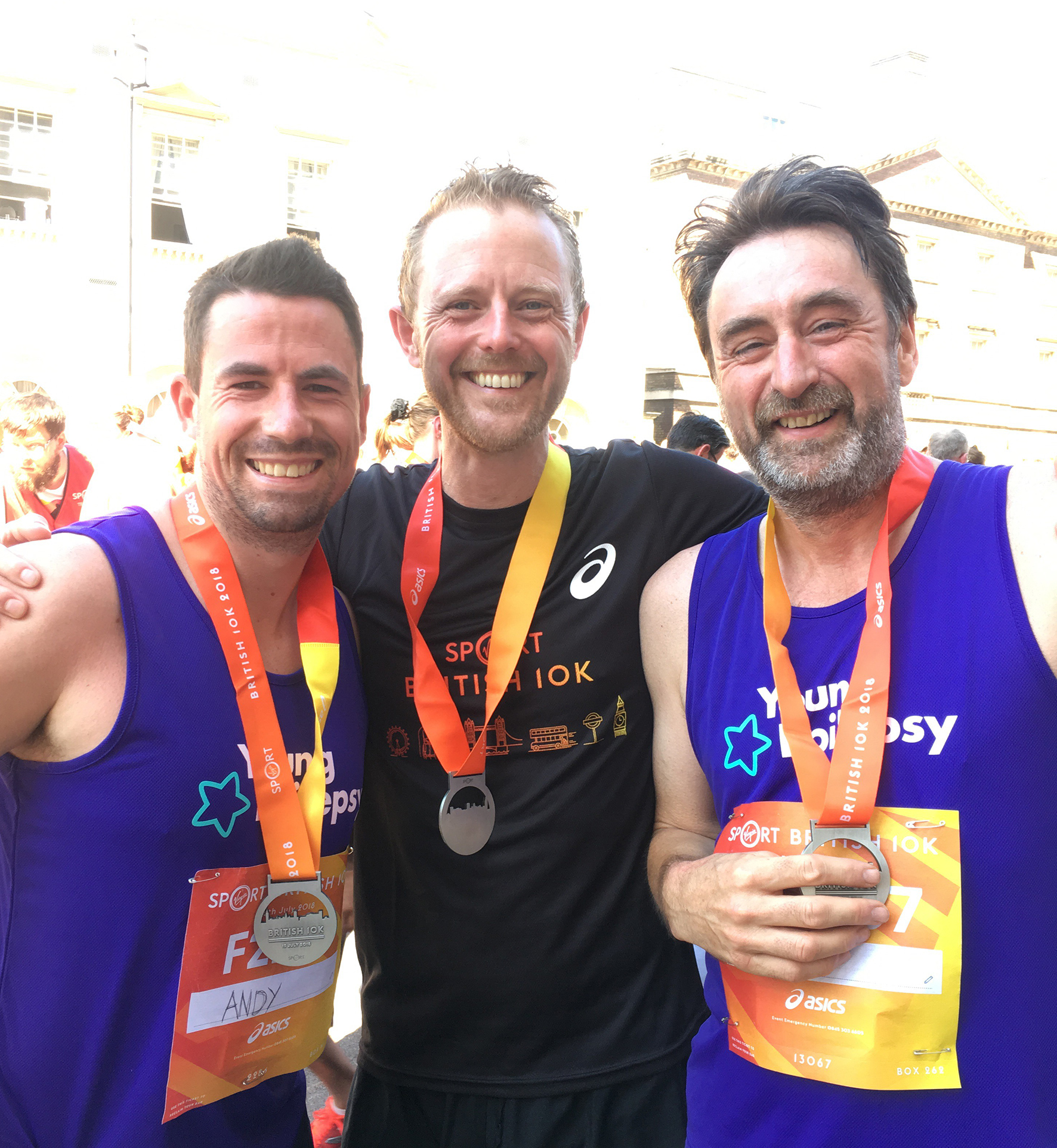 Abacus running team defy British 10k heat to help raise over £6,500 for Young Epilepsy