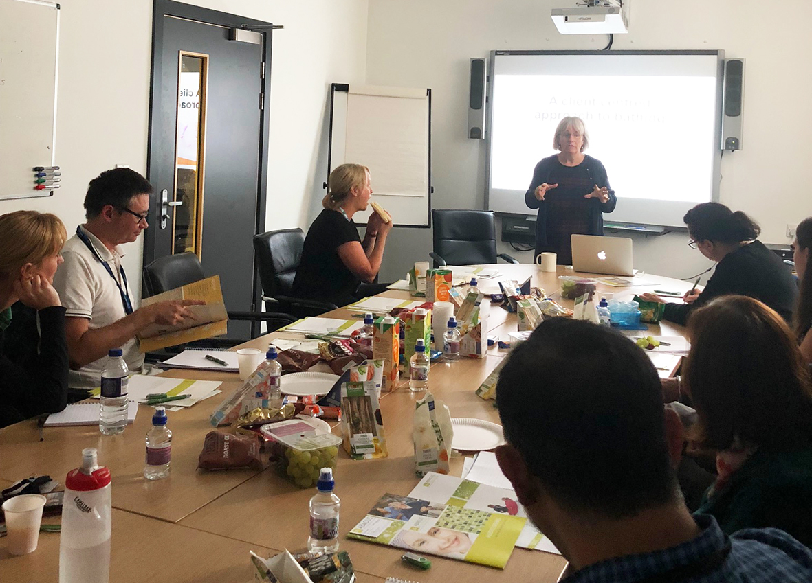 Dudley Children's and Adults Team benefit from rewarding Abacus  'Client Centred Approach to Bathing' CPD session