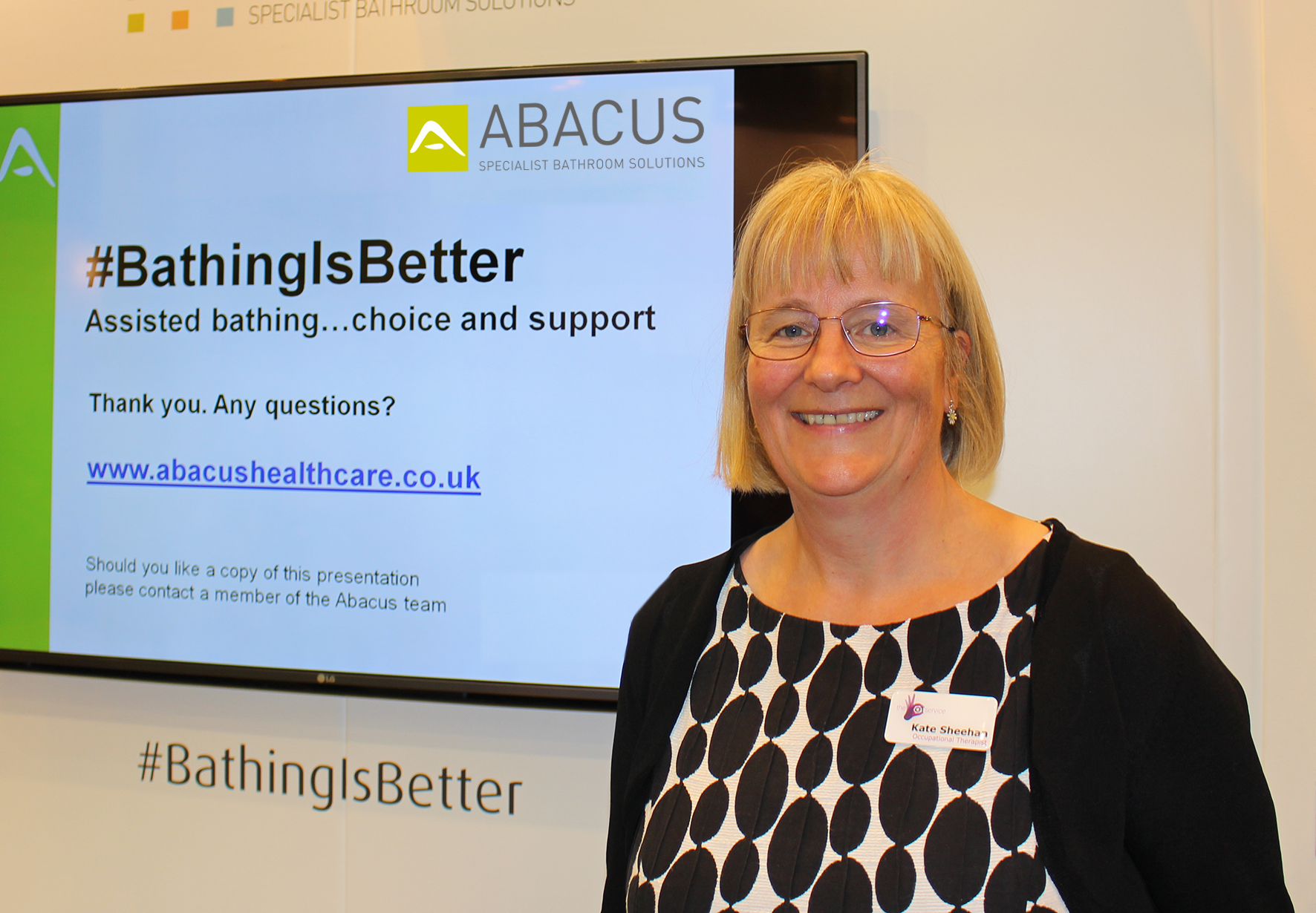 "Respected OT Kate Sheehan to present ""Bathing is Better"" seminars with Abacus Specialist Bathroom Solutions at OT Show"