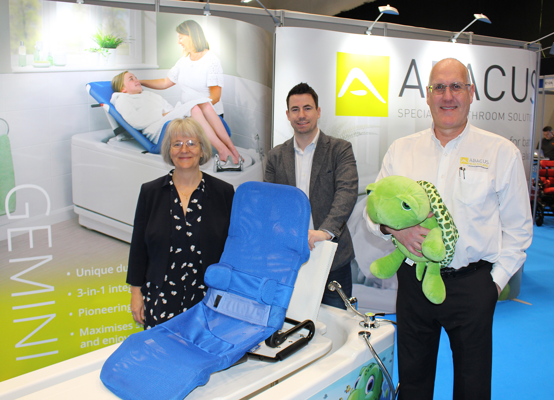 Abacus to present OT CPD seminar and new larger Gemini 2000 bath at Kidz South