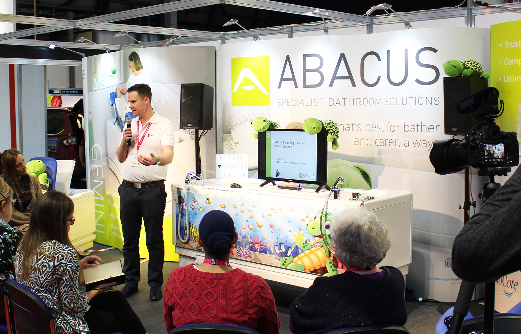 Abacus OT seminar to highlight accessible bath funding justification at OTAC Exeter
