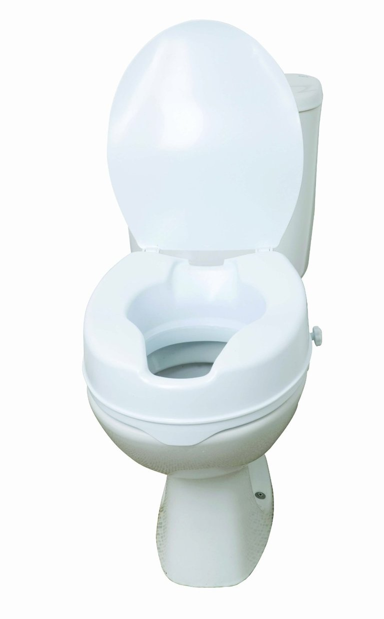 Raised Toilet Seat with Lid - 6 inch