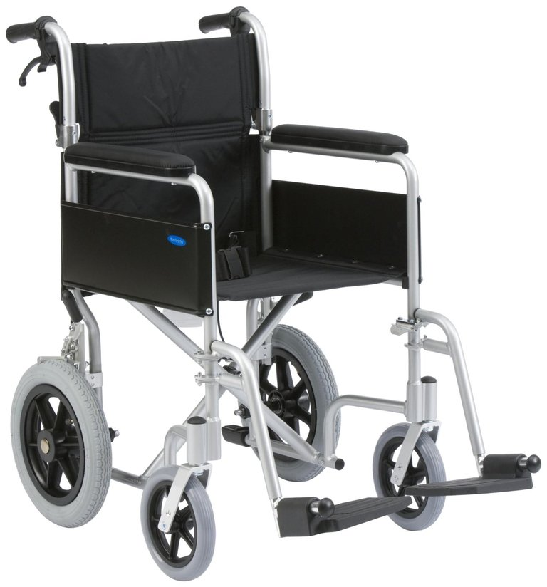 Drive Medical 18-inch Lightweight Aluminium Transit Wheelchair