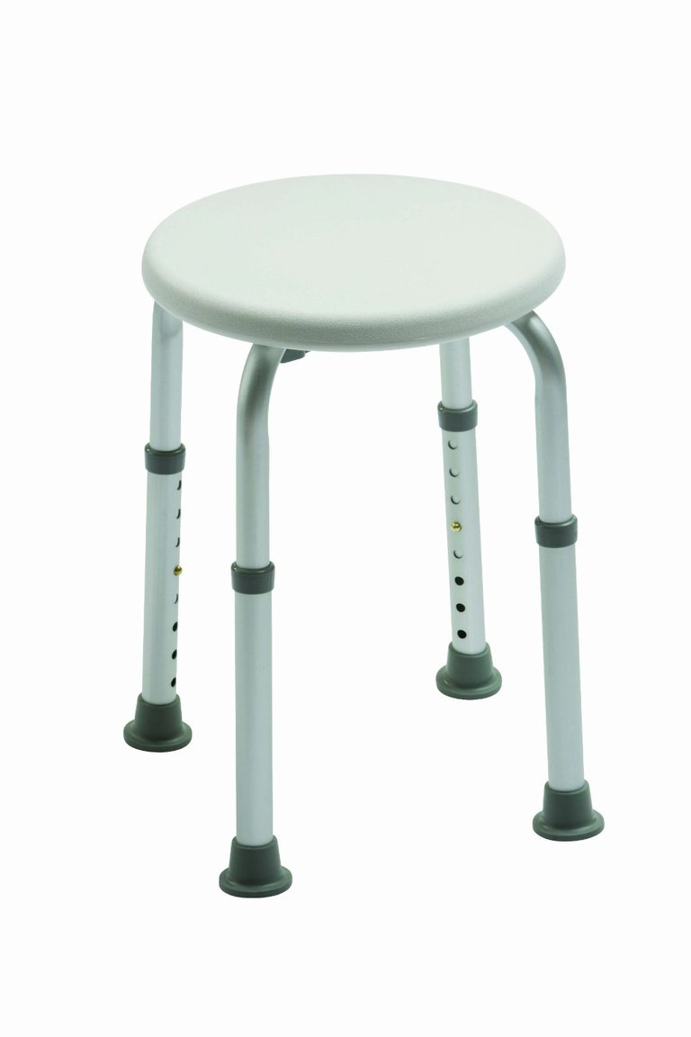 Adjustable Round Shower Stool - Drive Medical