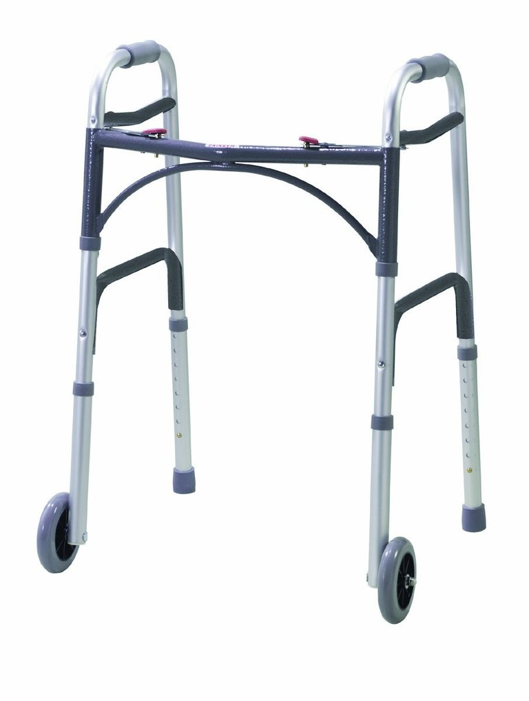 Folding Walking Frame with Front Wheels