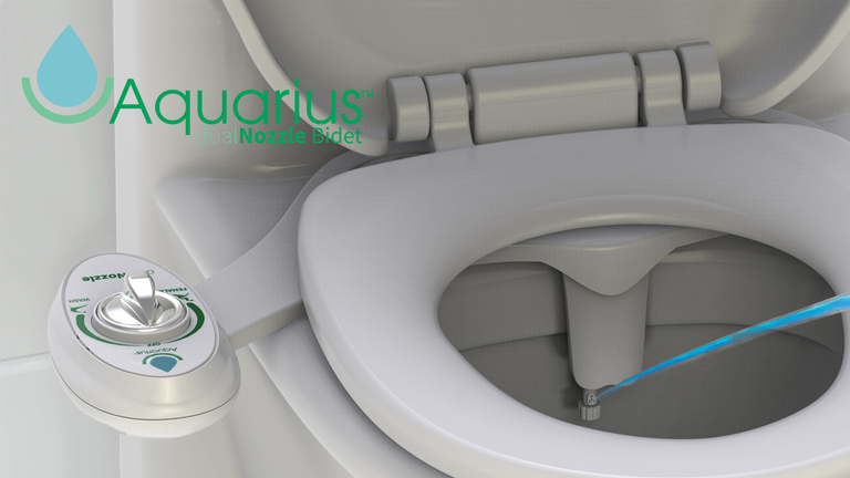 Aquarius Male & Female Dual Nozzle Cold Water Bidet