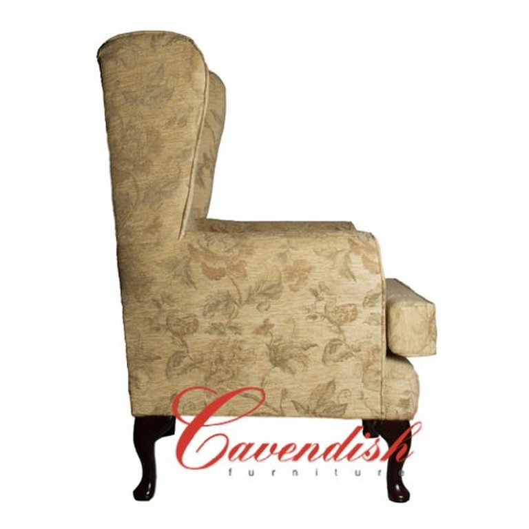 ORTHOPEDIC HIGH SEAT CHAIR in CREAM FLORAL FABRIC